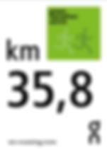 Kilometerangabetafel Green Marathon Zürich Kilometertafel
