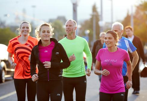 Running group on the Green Marathon