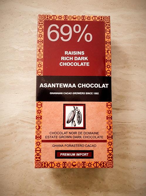 69% RAISINS RICH DARK CHOCOLATE,Est 100g
