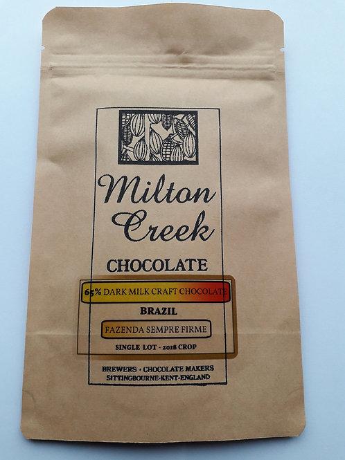 65% DARK MILK CHOCOLATE BRAZIL