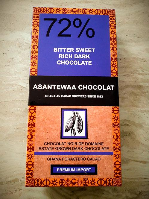 72% BITTER SWEET RICH DARK CHOCOLATE,Est 100g