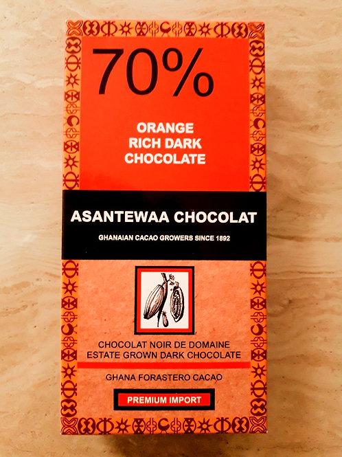 70% ORANGE RICH DARK CHOCOLATE,Est 100g