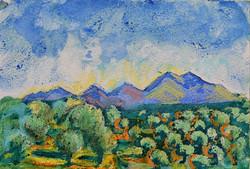 Blue Mountains beyond Kapsaliana
