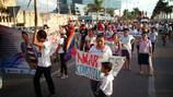 Participación de la REd de Lesbianas Feministas en Marcha Orgullo