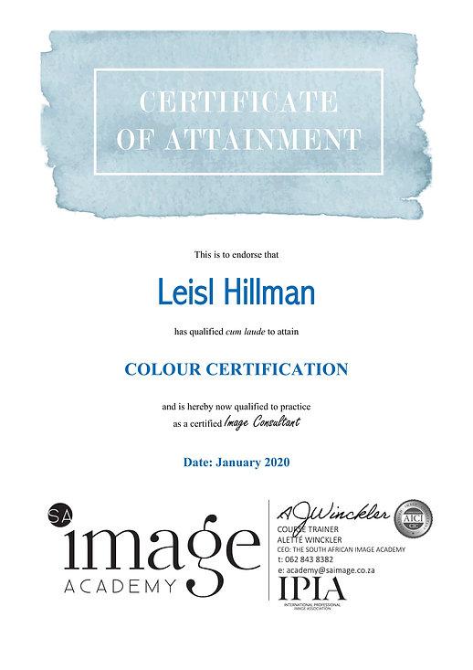 Colour Certification
