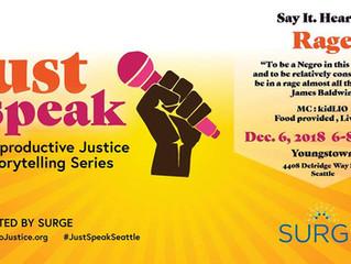 Just Speak on December 6th