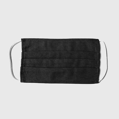 LYTD Nachhaltige Design Stoffmaske einfarbig Schwarz UNISEX