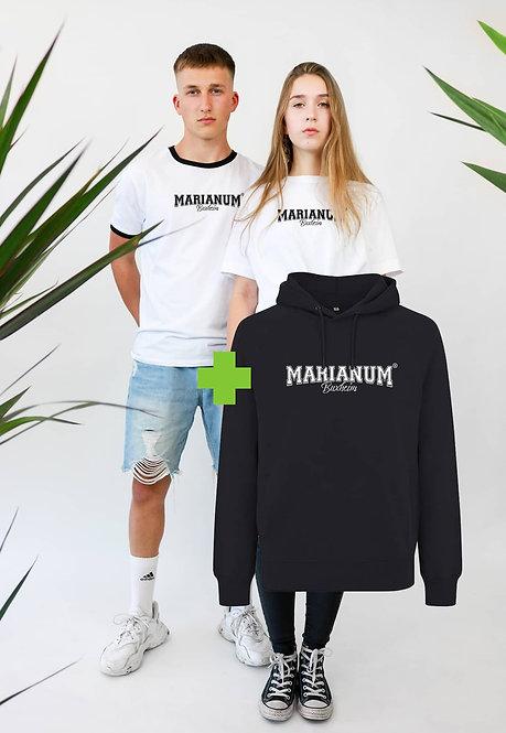 Marianum® Bundle T-Shirt + Hoodie aus 100% Bio Baumwolle