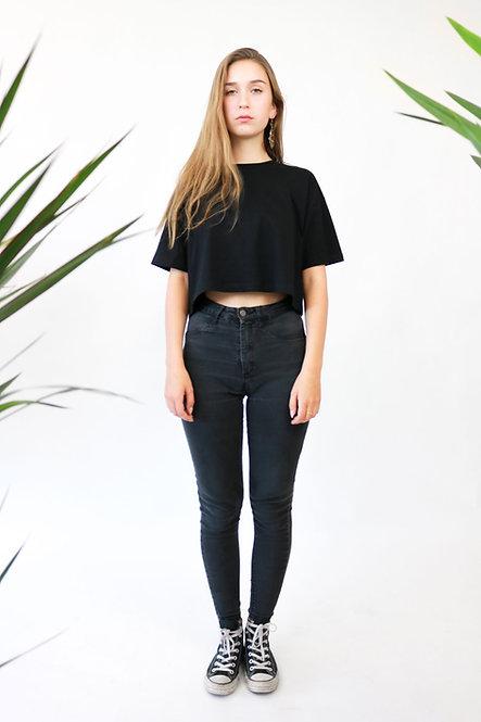 LYTD Girls Crop Top T-Shirt aus 100% Bio Baumwolle in verschiedenen Farben