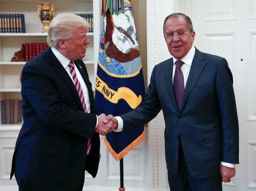 Trump releases classified information to Russian officials during a meeting