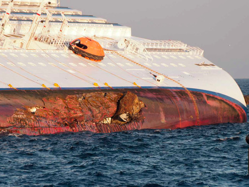 Costa Concordia finally pulled upright
