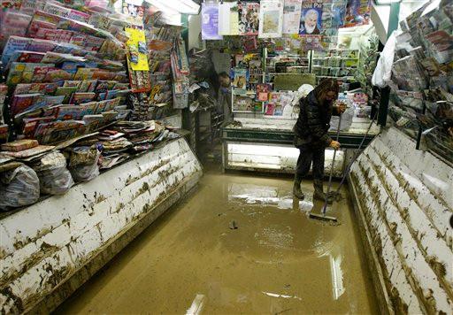 Flood in Genoa, Italy followed by chaos