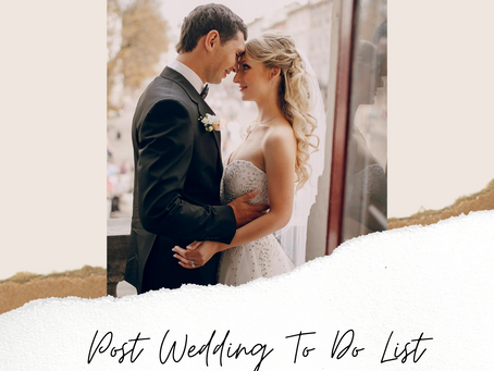 Post Wedding To Do List