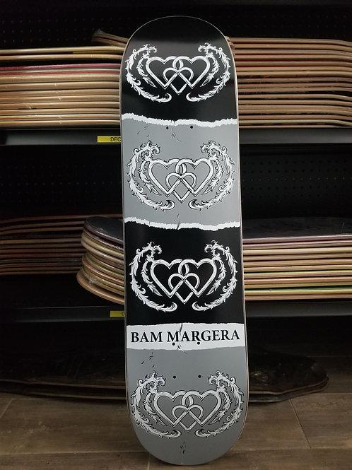 Bam Margera Three Hearts (black & gray) 8 inch