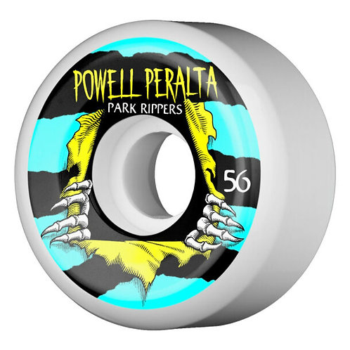Powell Peralta Park Ripper II - 58mm - White/Blue/Yellow
