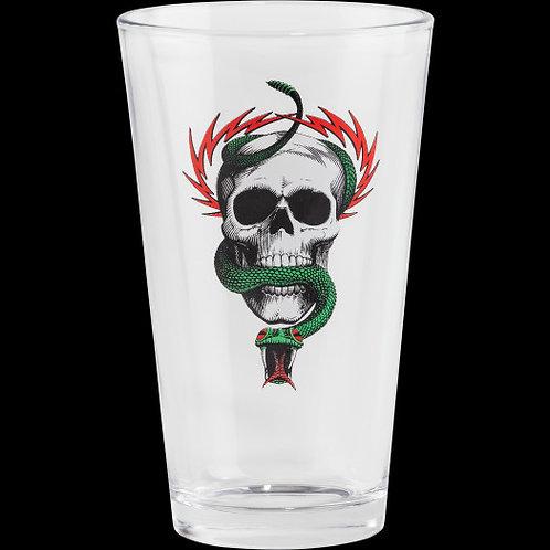 Powell Peralta Pint Glass - Skull & Snake