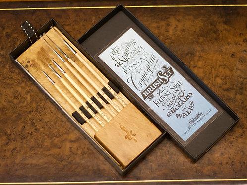 BEECH - Roman & Copperplate brush set.
