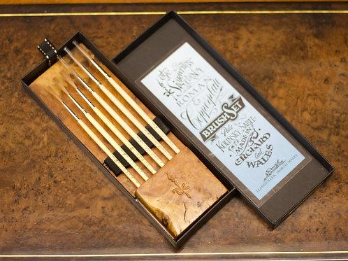 BURR OAK - Roman & Copperplate brush set.