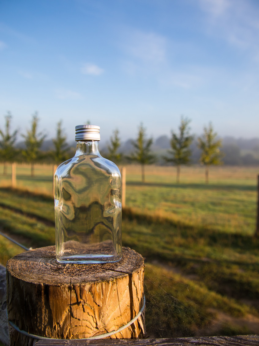 Glass Flask Spirit Bottle