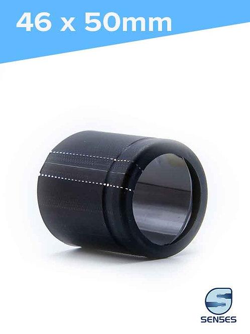 46 x 50mm Matt Black PVC Capsules