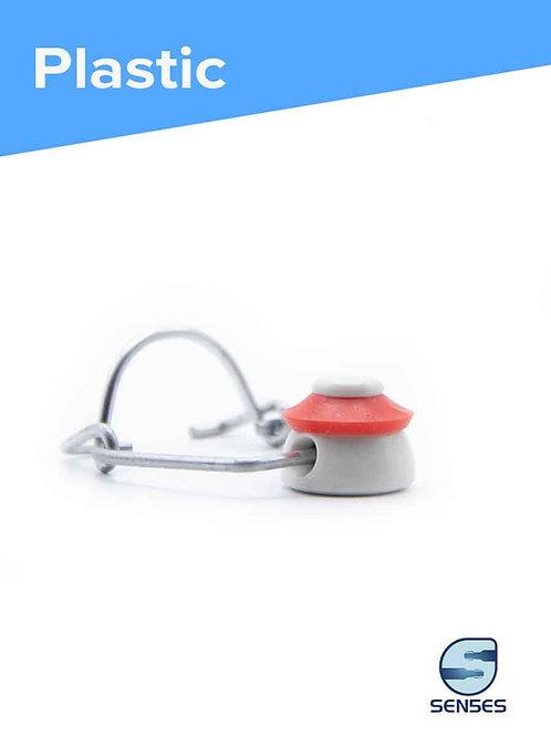 small white plastic swingstopper cap