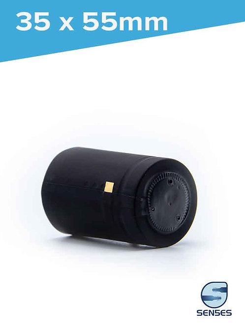 35 x 55mm Black Heat Shrink Capsules