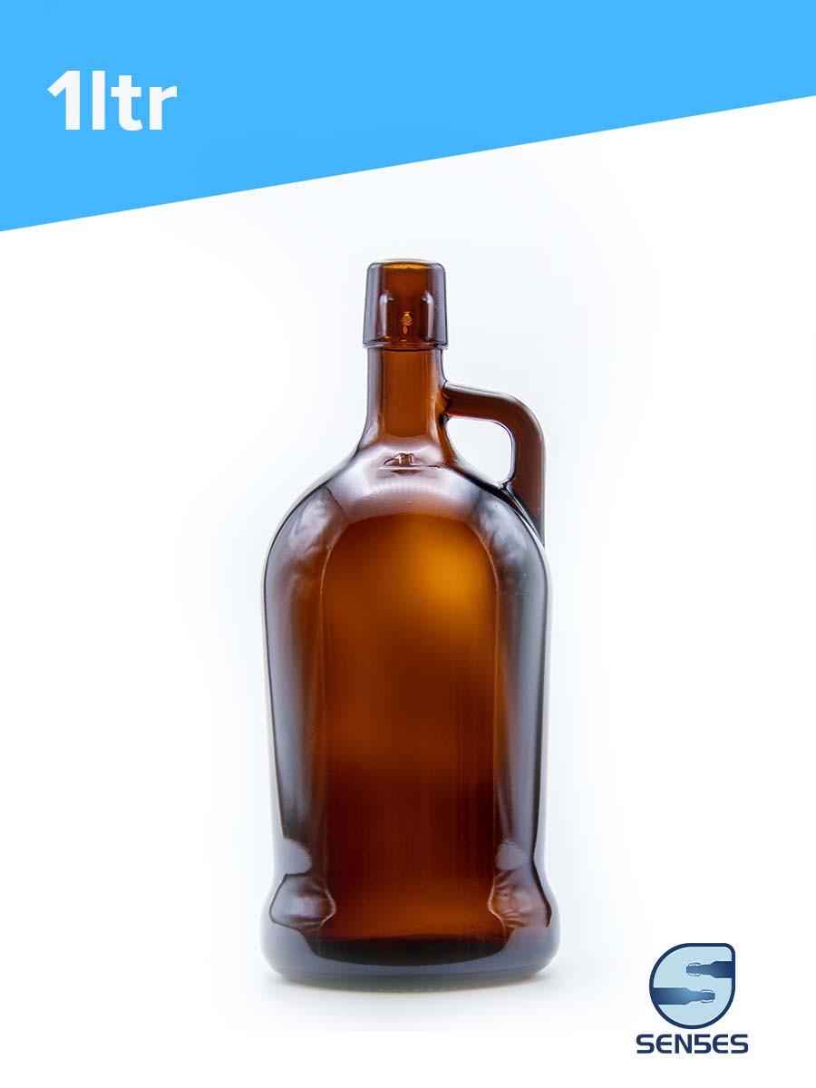 1ltr growler glass bottle