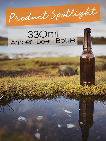 330ml amber beer bottle