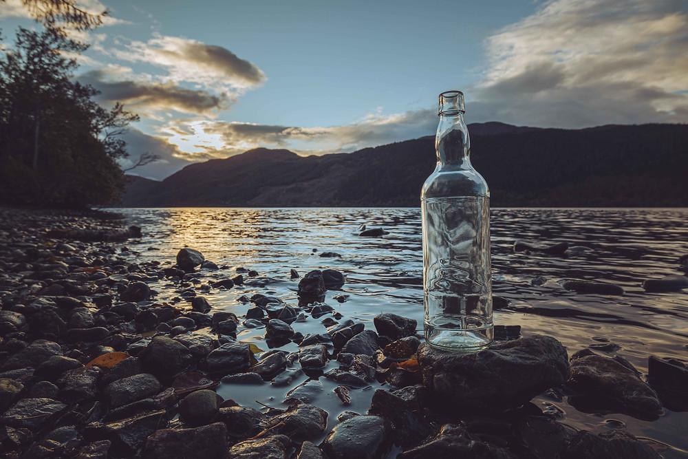 700ml glass spirit bottle