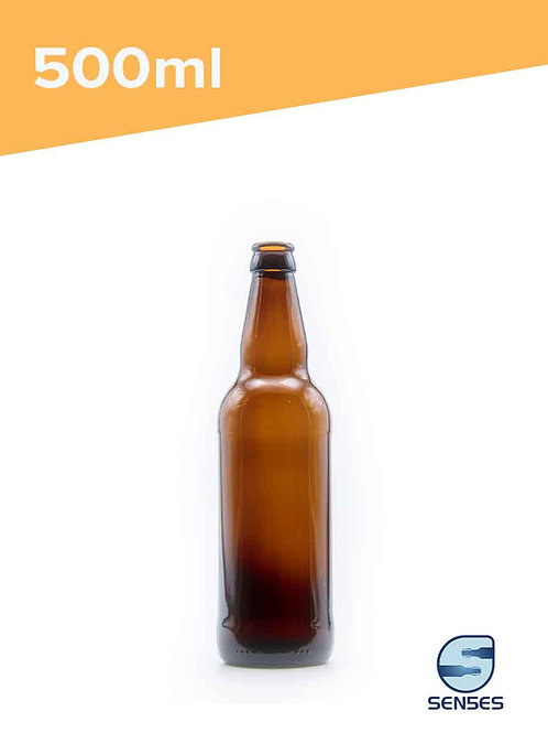500ml JAC amber glass beer bottle