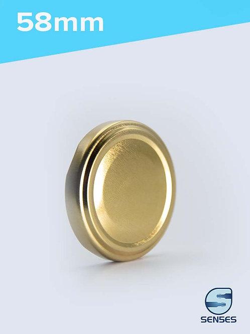 58mm Twist Off Jar Cap gold
