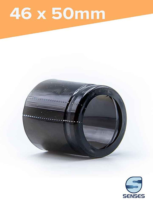 46 x 50mm Glossy Black Heat Shrink Capsules