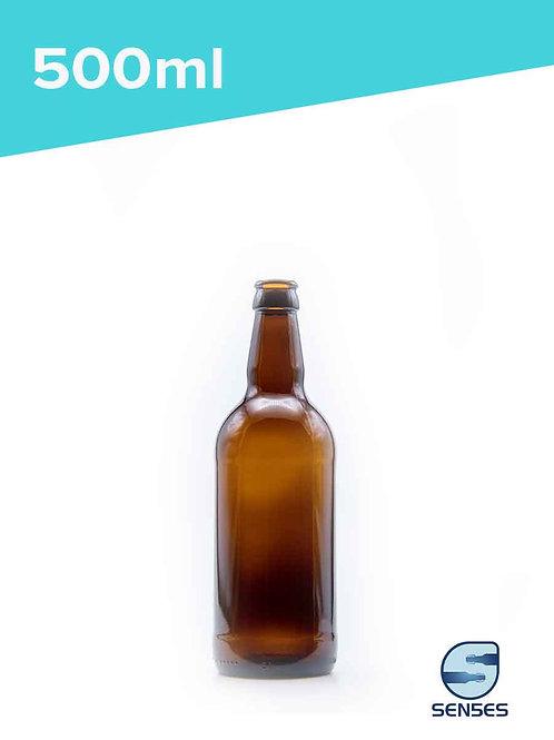 500ml AMC amber glass beer bottle