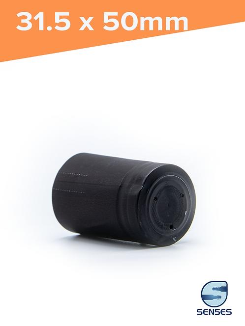 31.5 x 50mm Black Capsule