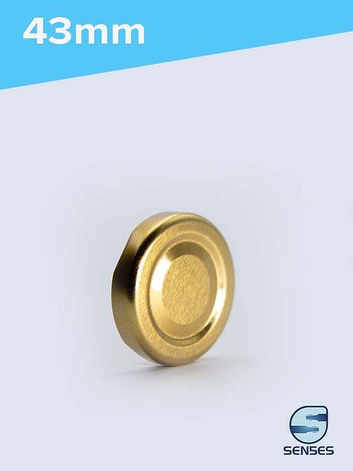 43mm Twist Off Jar Cap gold