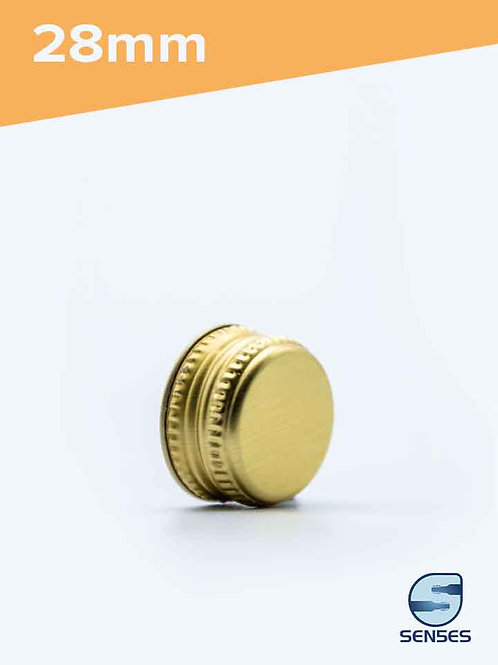 28mm gold metal screw top cap angle
