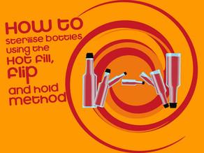 Hot fill, flip and hold method for filling Hot Sauce Bottles