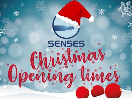Sen5es Christmas opening times