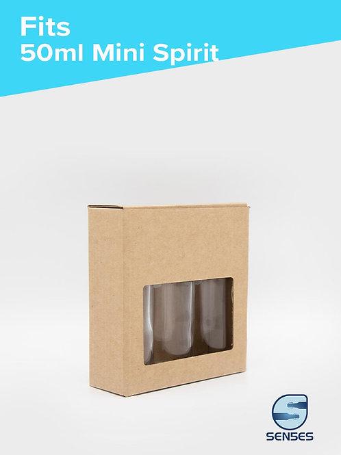 3 x 50ml Craft Bottle Box angle