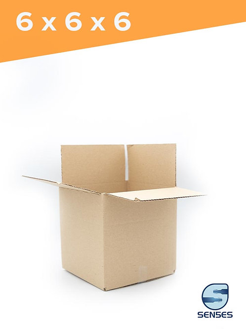 "6"" x 6"" x 6"" Single Wall Cardboard Box"