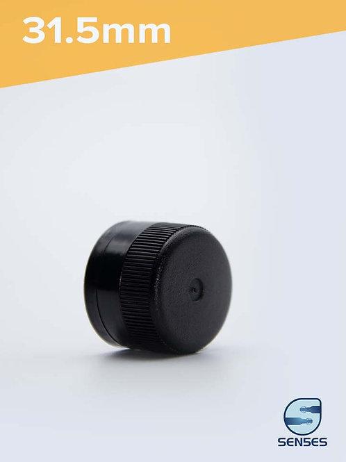 31.5mm black plastic oil pourer Caps front