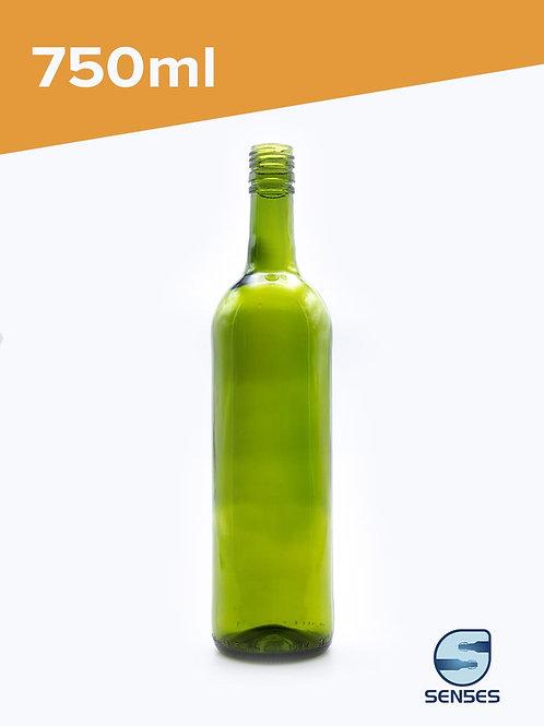 750ml Green Bordeaux Wine Bottle