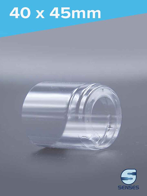 40 x 45mm Clear Shrink Bands side