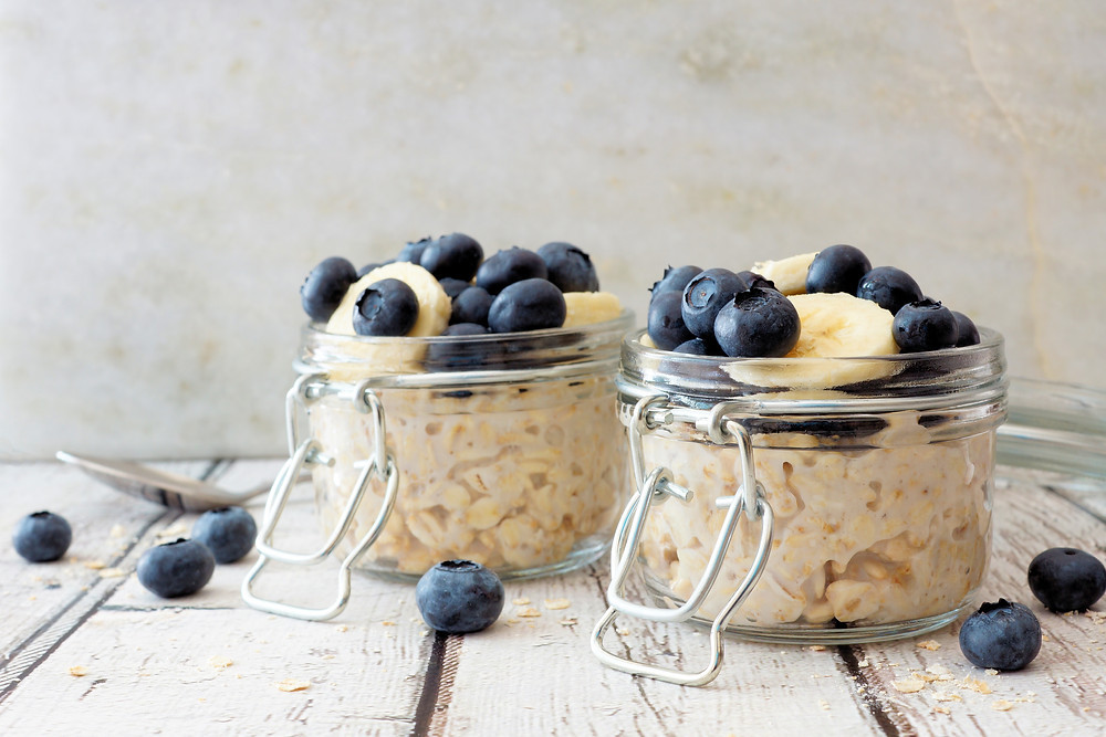 Overnight oats in Kilner Jars