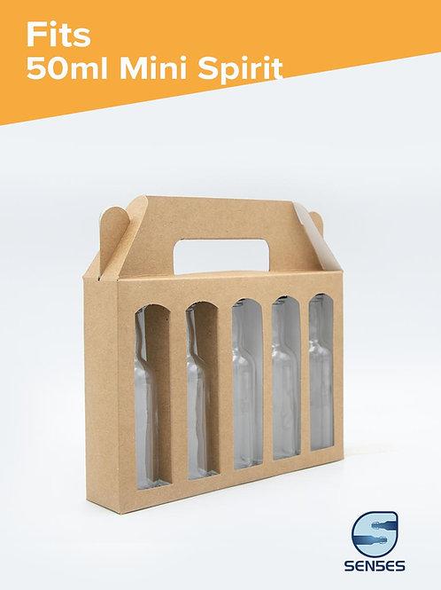 5 x 50ml Craft Bottle Box angle