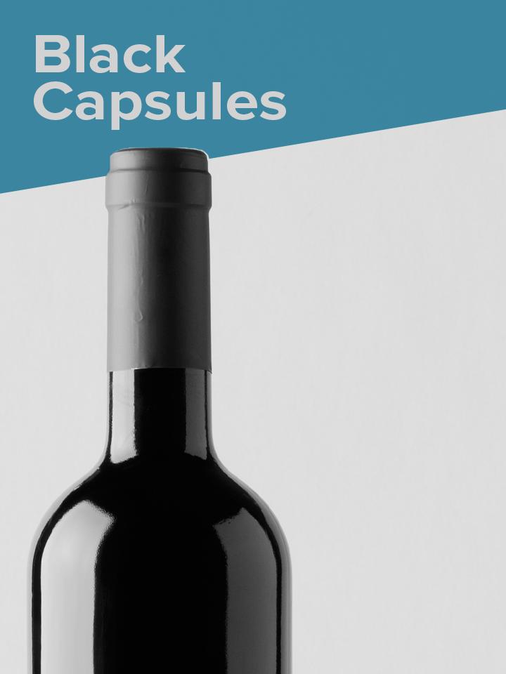 Black heat shrink capsules