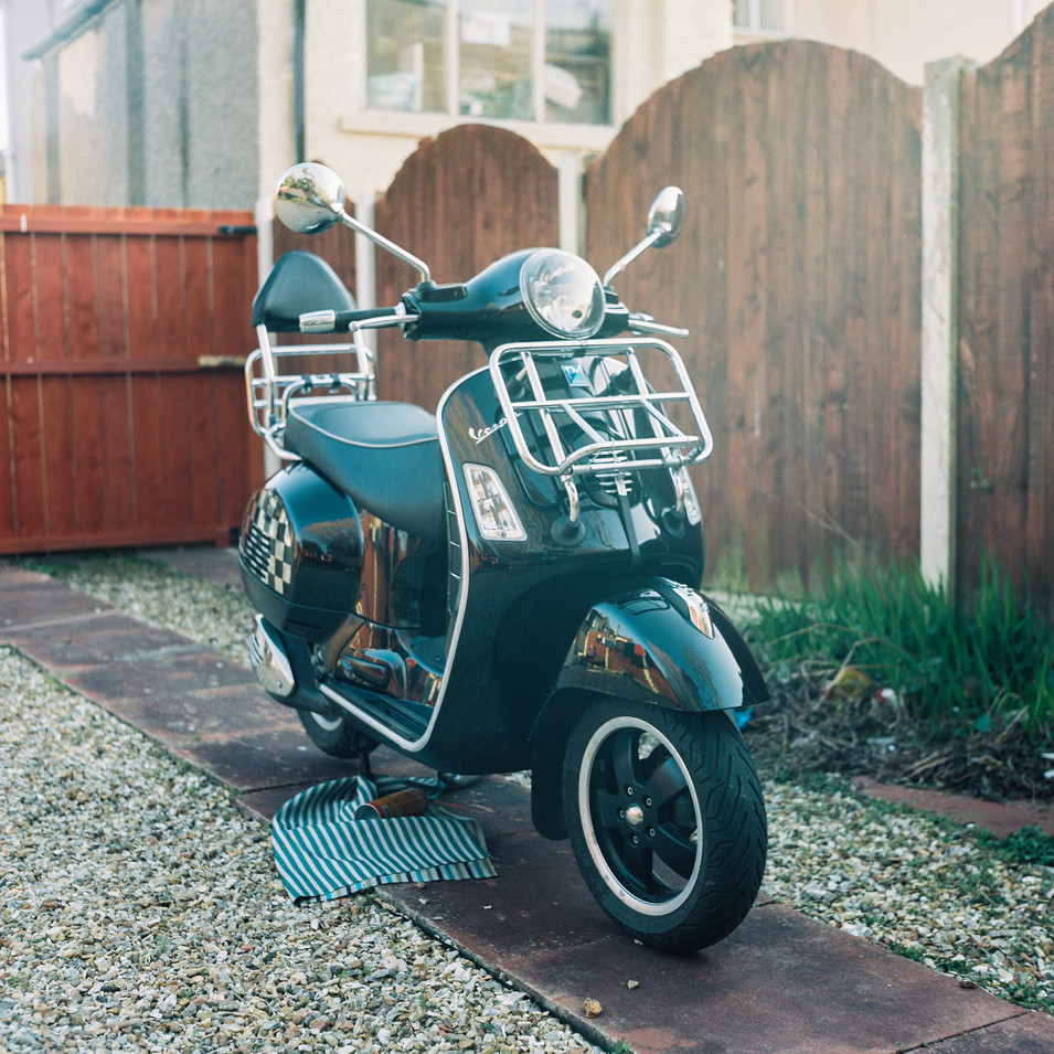 Dad worked fluidly throughout and after the first lockdown on his, at that point, new and unridden scooter.
