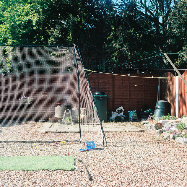 Our family outing, golf, had become the garden activity at the back end of the heatwave.
