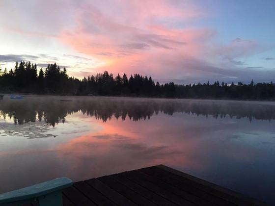 The Spiritual Practice of Running around the Lake  (and listening to The Wailin' Jennys)