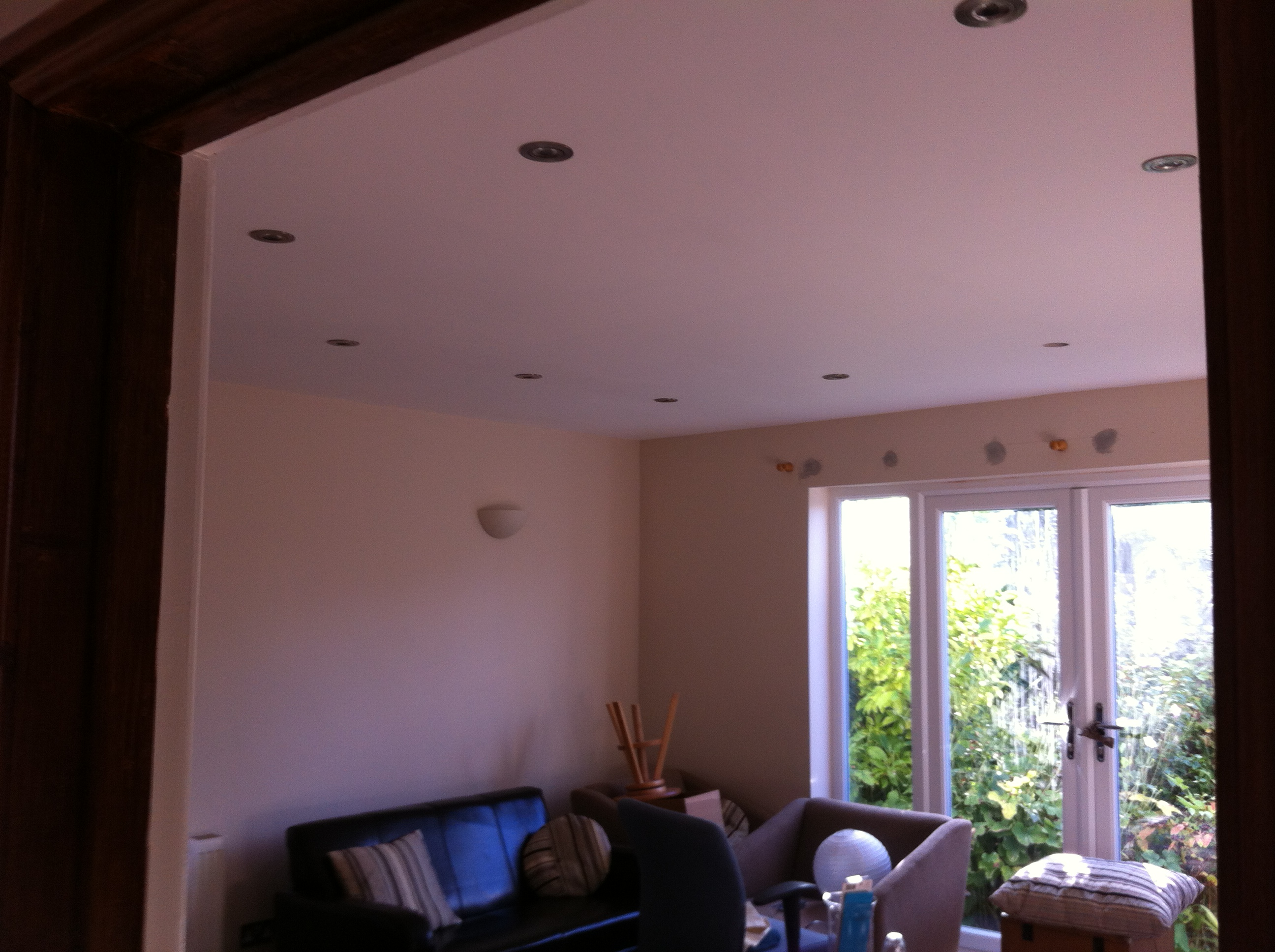 Garden room plastering